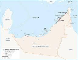 uae map water resources in uae fanack water