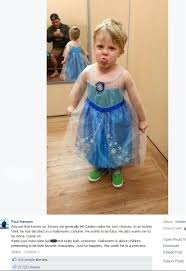 what do you do when your son wants to dress like elsa dress like