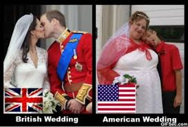 Funny British Memes - british wedding vs american wedding funny picture