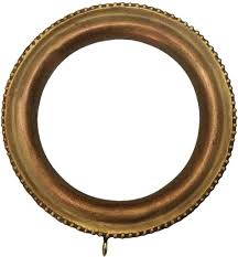 Wood Curtain Rings Unfinished by Window Treatment Rings