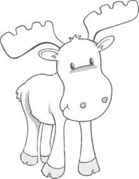 Moose Free Animal Coloring Pages For Kids By Jennythejet Pinteres Woodland Animals Coloring Pages