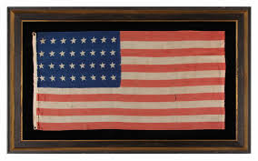 Us Flag Facts Jeff Bridgman Antique Flags And Painted Furniture 32 Star