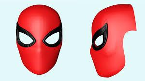spiderman mask halloween spider man mask with shutter lenses 3d model in man3dexport