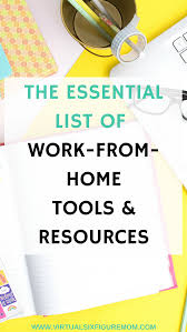 These Work From Home Companies Work From Home Tools And Resources Virtual Six Figure Mom