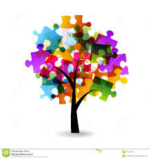abstract tree colorful puzzle stock image image 28542711