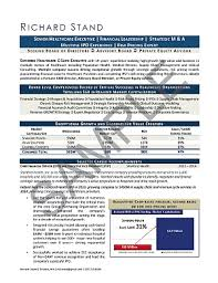 Healthcare Resumes Top Level Executive Resume Sample Mary Elizabeth Bradford The