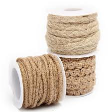 burlap ribbon diy craft vintage hessian jute twine rope wedding party