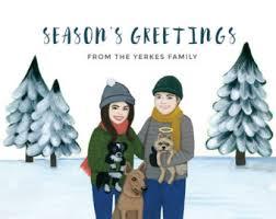 custom holiday card etsy