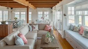 cottage style homes interior beach cottage features open floor plan this waterfront beach cottage