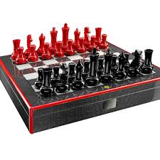 ferrari carbon fibre chess set checkers and board game objects