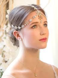 gold headpiece gold swarovski headpiece deco bridal 1920s headpiece
