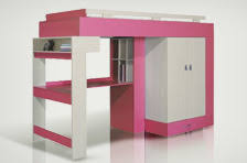 lit avec bureau coulissant lit mezzanine avec bureau et armoire lit surlev avec bureau et