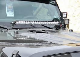 jeep jk hood led light bar rigid 40333 20 inch led light bar hood mount jeep wrangler jk