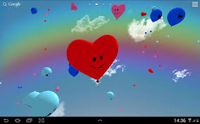 heart fly wallpapers balloons 3d live wallpaper android apps on google play