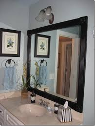 Corner Mirror For Bathroom by Framing Those Boring Mirrors Southern Hospitality