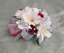 White Wrist Corsage White Alstroemeria Red Rose Wrist Corsage In Waldorf Md Country