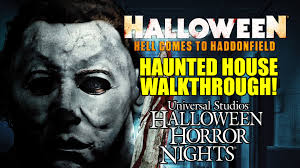 halloween horror nights 1997 halloween movie haunted house walkthrough universal hollywood