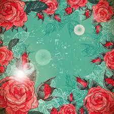 romantic vintage rose frame romantic font logo and vintage