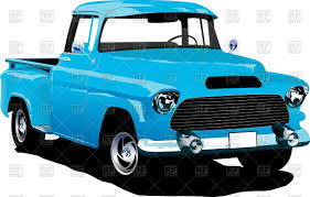 Vintage Ford Truck Decor - old american blue pick up truck vector image 55573 u2013 rfclipart