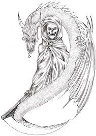 great scary design of death tattoo ideas tattoo design ideas