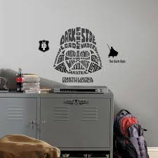 amazon com roommates star wars typographic darth vader peel and from the manufacturer star wars classic