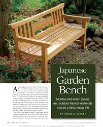 Woodworking Plans Bench Seat How To Make A Japanese Garden Bench Home Outdoor Decoration