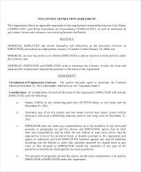 sample employment separation agreement 7 documents in pdf