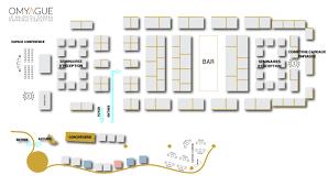 floor plan of the omyague 2017 trade fair