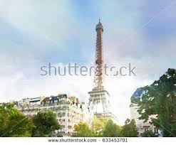 eiffel tower painting stock images royalty free images u0026 vectors