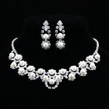 diamond pearl necklace set images Pearl and diamond jewelry sets andino jewellery jpg