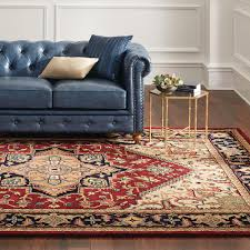 home decorators colleciton home decorators collection gordon blue leather loveseat 0849500310