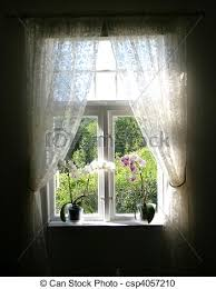 Old Curtains Stock Photography Of Summer Window Old Fashioned Window With