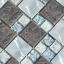 glass metal mosaic kitchen backsplash tile ssmt122 blue glass grey