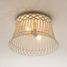 Living Room Ceiling Lamp Shades Vintage Wire Basket Ceiling Light Shades Of Light 149 I