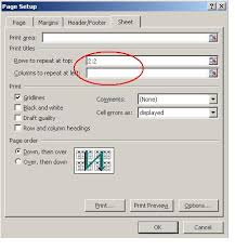 how to repeat pivot table headings when printing excel documents
