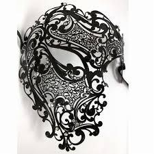 silver masquerade masks for women silver black gold opera phantom metal venetian masquerade mask men