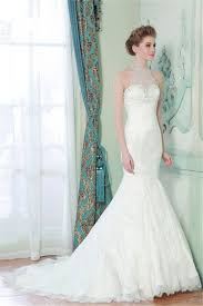 wedding dresses high mermaid high neck sheer back lace beaded wedding dress with pearls