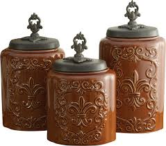 fleur de lis kitchen canisters design guild 3 kitchen canister set reviews wayfair
