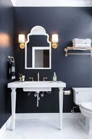 navy blue bathroom ideas powder room wall decor powder room traditional with pedestal sink
