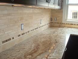 Travertine Kitchen Backsplash Edge Tile Travertine Kitchen Back Splash