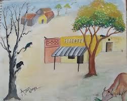 nature drawing u2013 village scene desipainters com