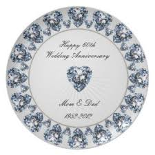 60th anniversary plates 60th wedding anniversary plate gift idea personalized so