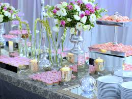 how to decorate a buffet table wedding buffet ideas using flowers for buffet table decorations