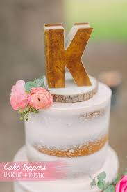 Wedding Cake Ideas Rustic Pink Wedding Cake Topper Craft Cakery