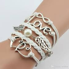 infinity bangle bracelet images 2017 infinity love anchor multilayer braided wrap charm bracelets jpg