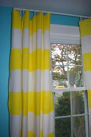 Yellow Stripe Curtains Diy Striped Curtains No Sew Striped Curtains Painted Curtains