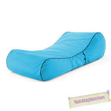 chaise turquoise turquoise splash proof bean bag sun lounger chaise longue garden