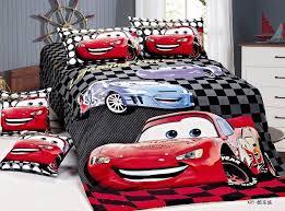 Single Bed Linen Sets Cartoon Lightning Mcqueen Cars Bedding Sets Children Bedroom Decor