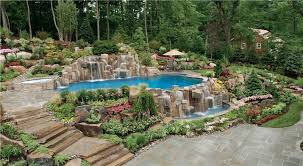 stone waterfalls and vanishing edge pool landscaping network