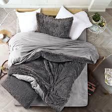new velvet mink velvet bedding set gray duvet cover comfortable